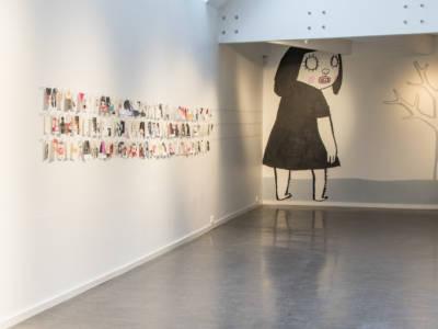 Bild från utställningen med Nina Hemmingsson