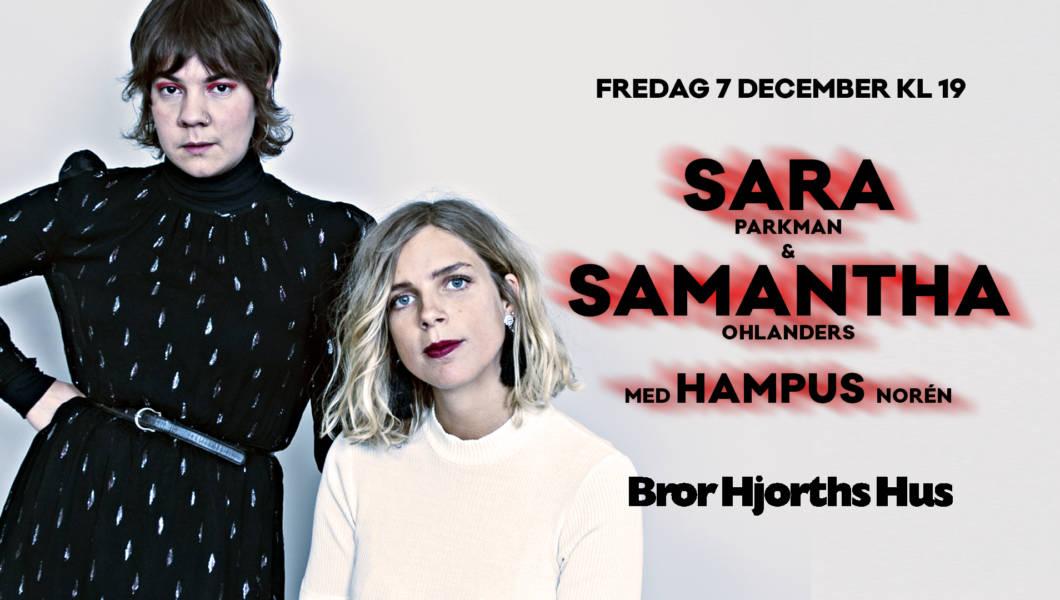 Sara & Samantha med Hampus i Bror Hjorths ateljé.